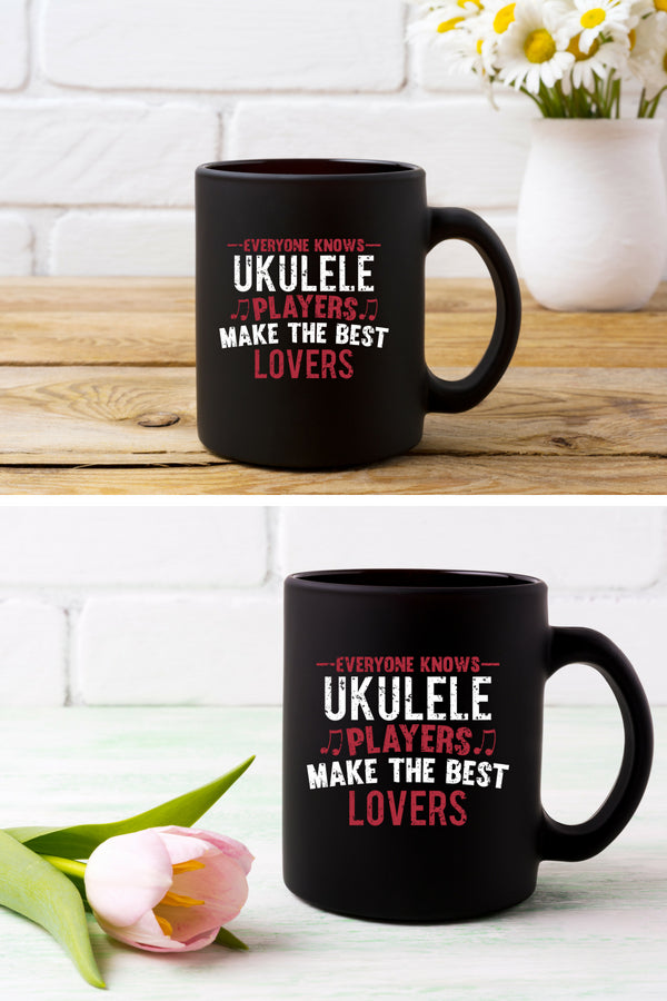 Ukulele Players Lovers Coffee Mug Black