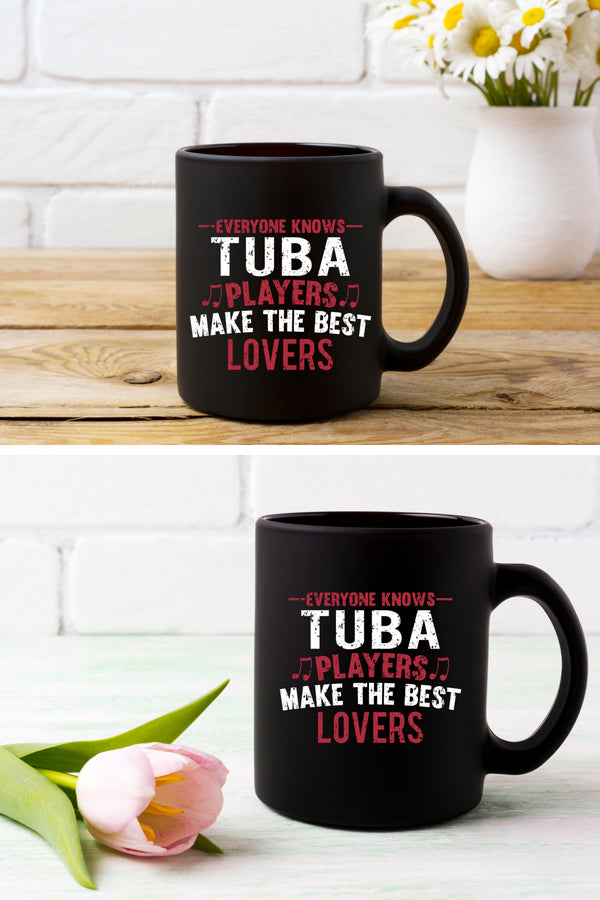 Tuba Players Lovers Coffee Mug Black