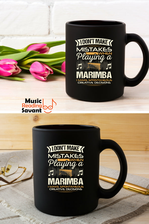 Marimba Mistakes Coffee Mug Black
