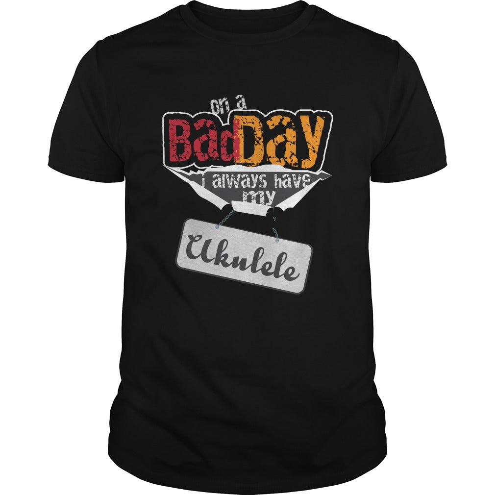 Bad Day Ukulele Player Men's T-shirt