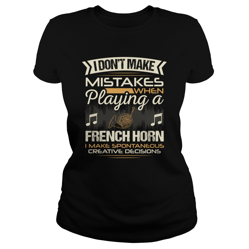French Horn Ladies T-Shirt
