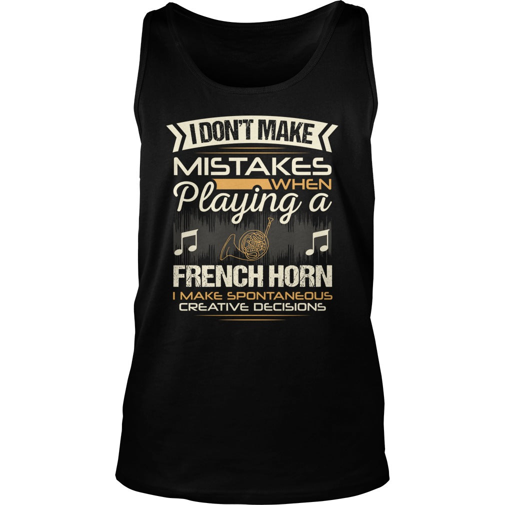 French Horn Unisex Tank Top