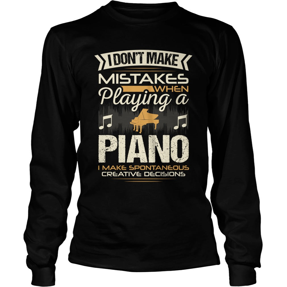 Piano Player Unisex Longsleeve T-Shirt