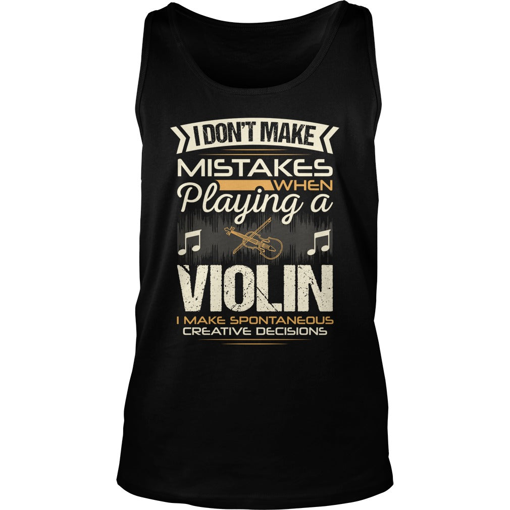 Violin Player Unisex Tank Top
