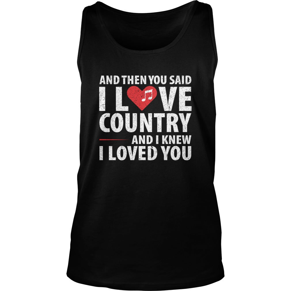 I Love Country Music Unisex Tank Top