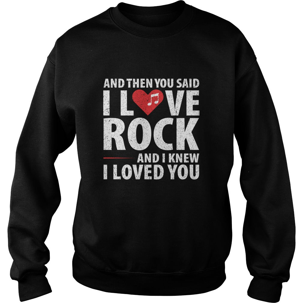 I Love Rock Sweatshirt