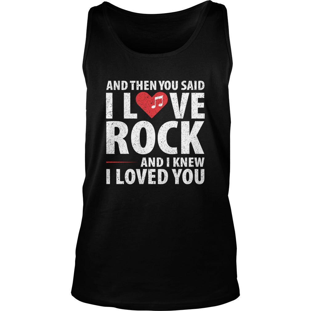 I Love Rock Unisex Tank Top