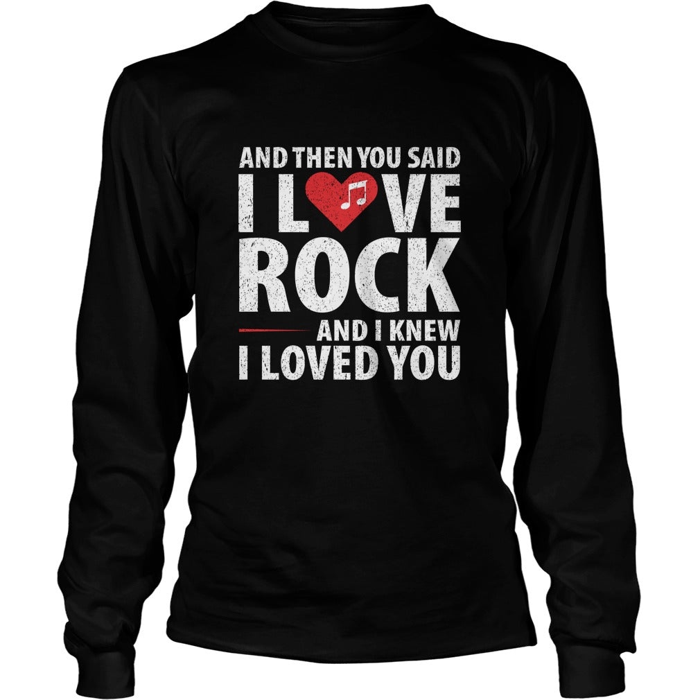 I Love Rock Unisex Longsleeve T-Shirt