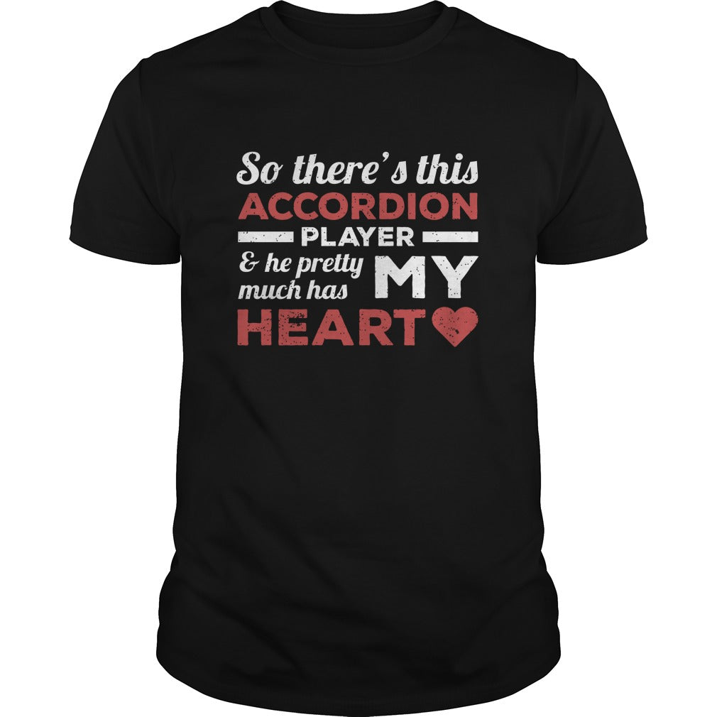 Accordion Player Heart Men's T-Shirt