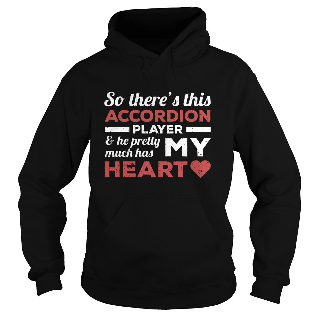 Accordion Player Heart Hoodie