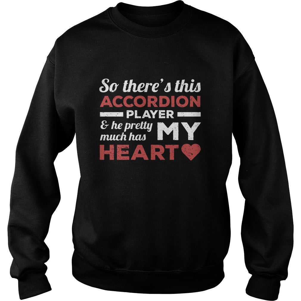 Accordion Player Heart Sweatshirt