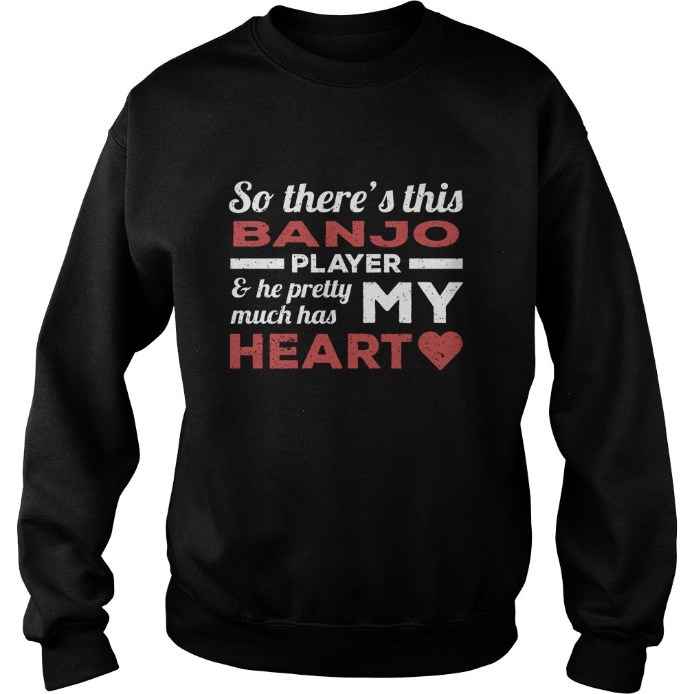 Banjo Player Heart Sweatshirt