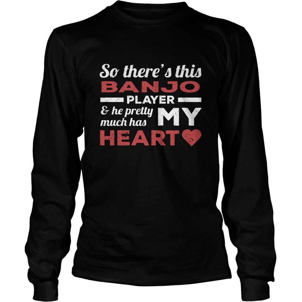 Banjo Player Heart Unisex Longsleeve T-Shirt