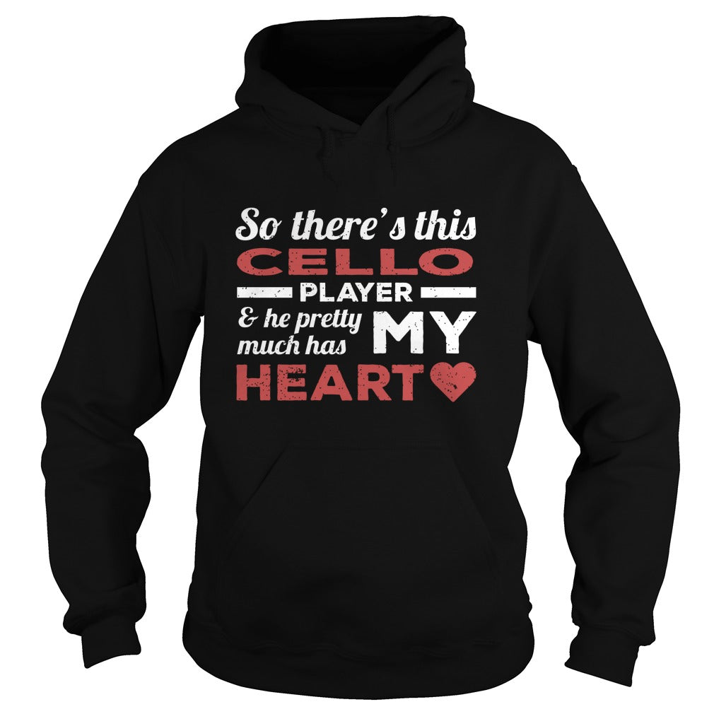 Cello Player Heart Hoodie