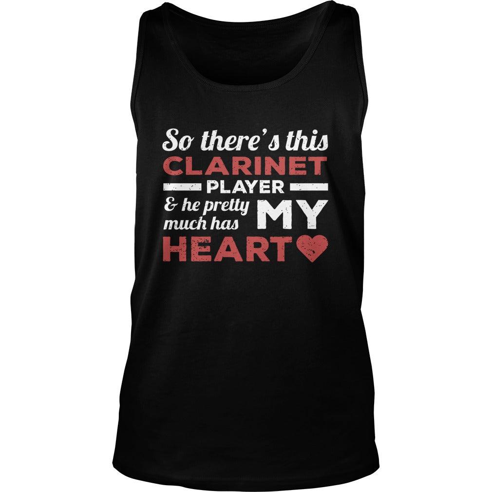 Clarinet Player Heart Unisex Tank Top