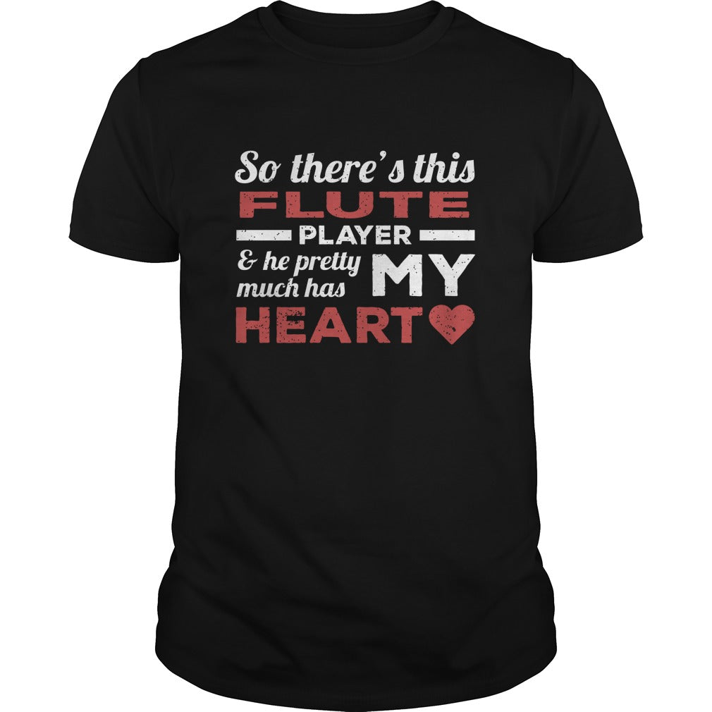 Flute Player Heart Men's T-Shirt