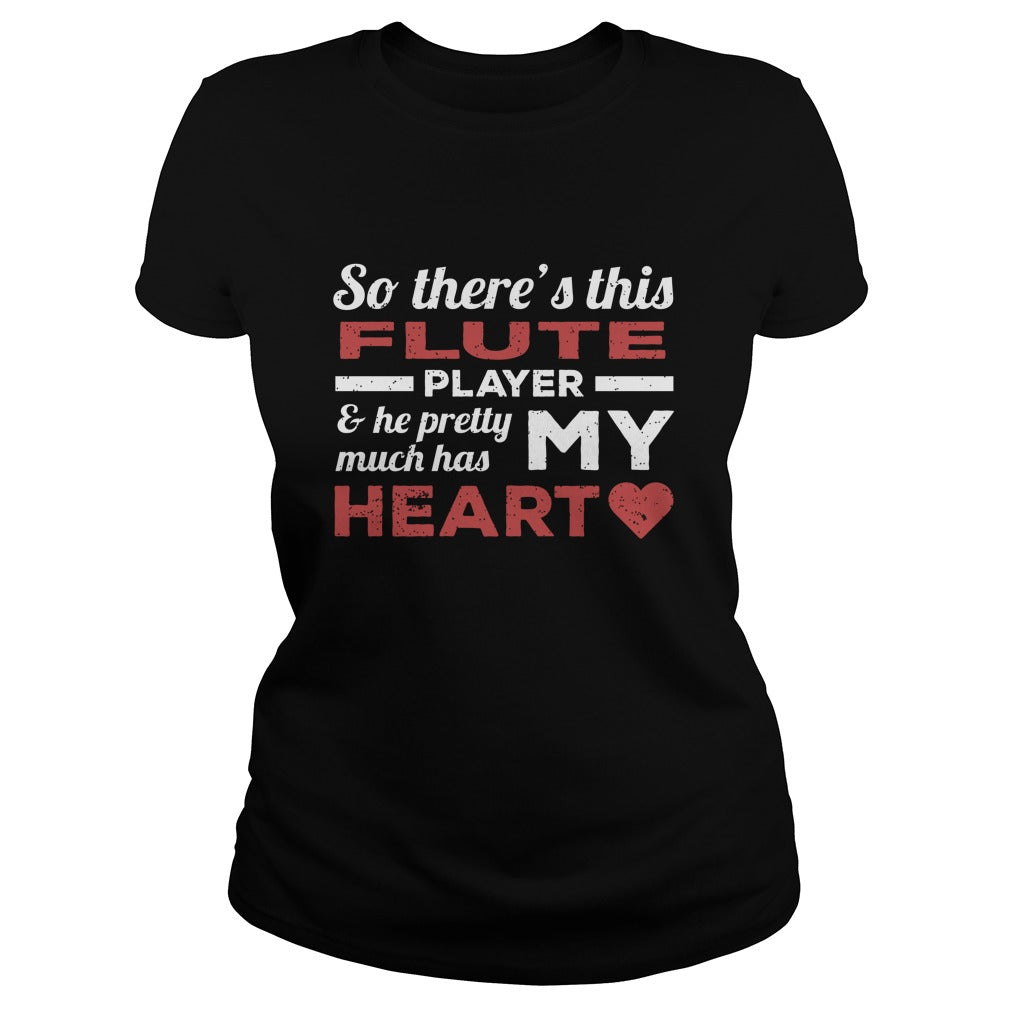 Flute Player Heart Women's T-Shirt