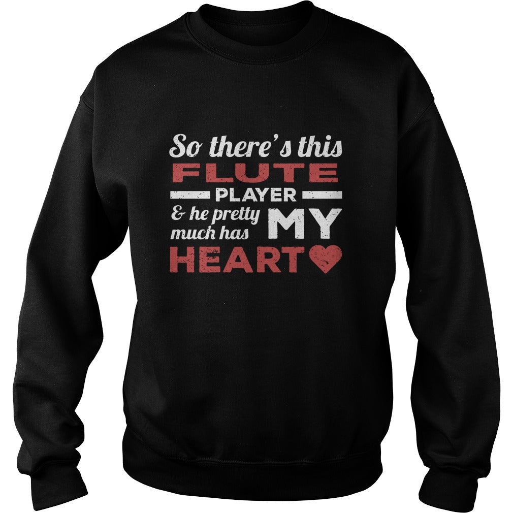 Flute Player Heart Sweatshirt