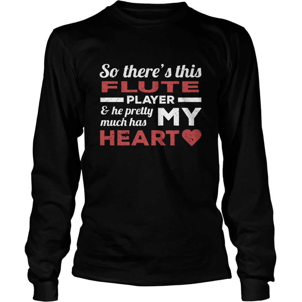 Flute Player Heart Unisex Longsleeve T-Shirt