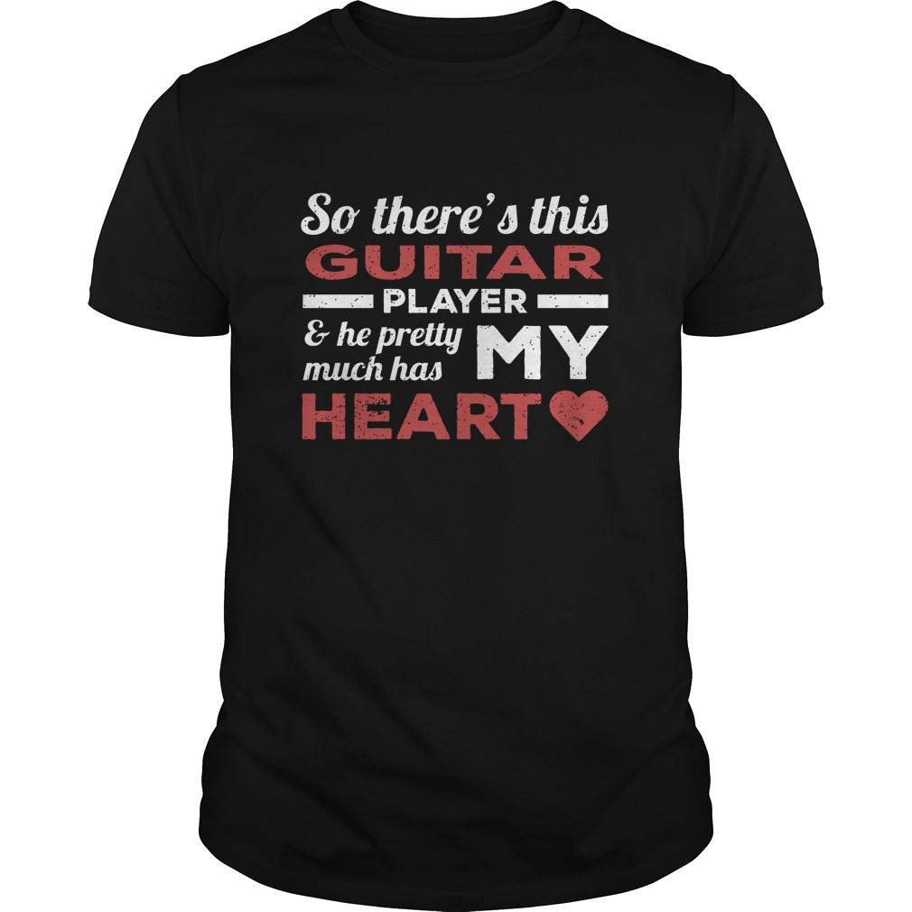 Guitar Player Heart Men's T-Shirt