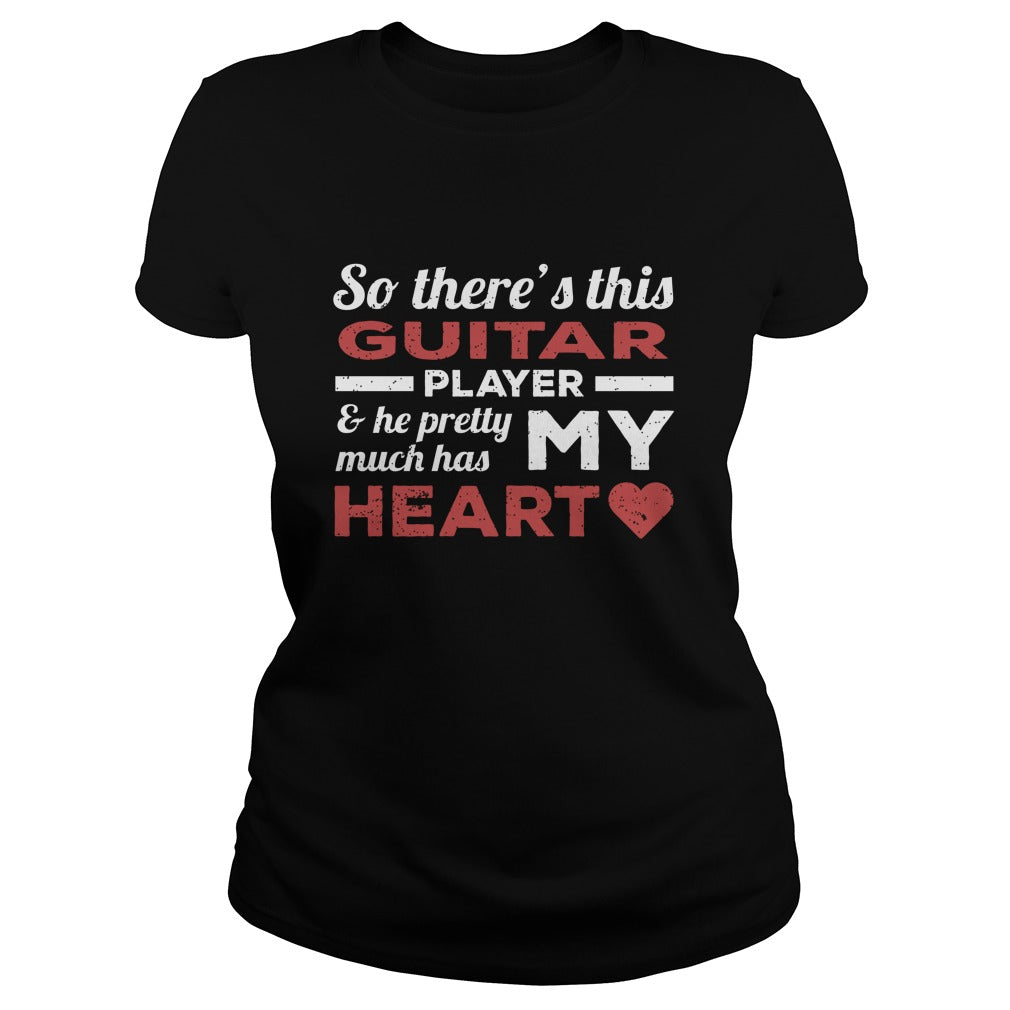Guitar Player Heart Women's T-Shirt