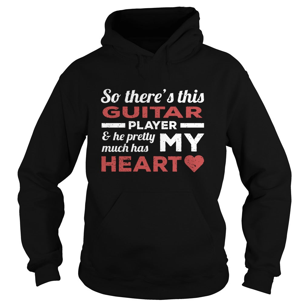 Guitar Player Heart Hoodie