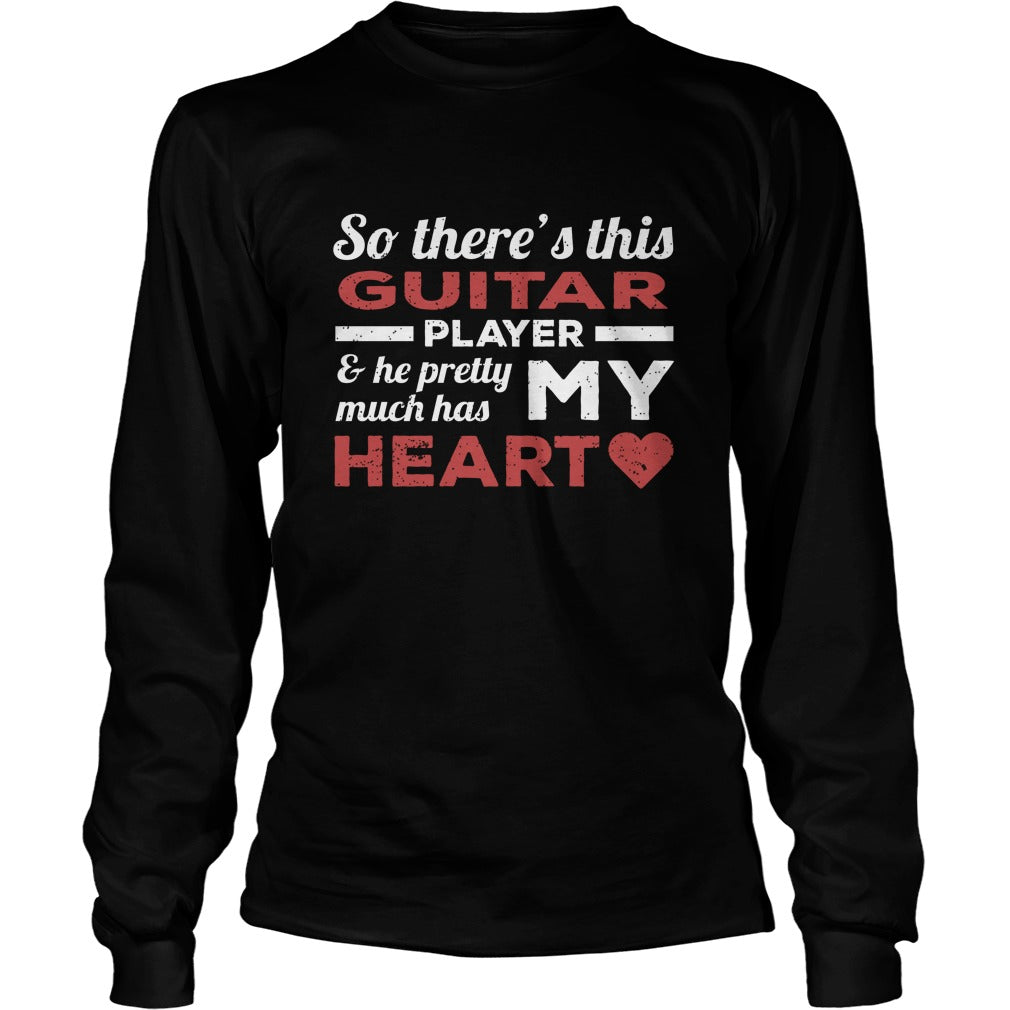 Guitar Player Heart Unisex Longsleeve T-Shirt