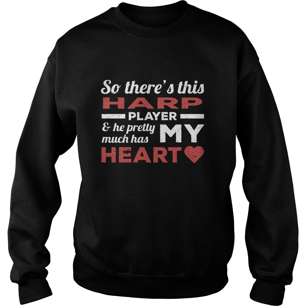 Harp Player Heart Sweatshirt