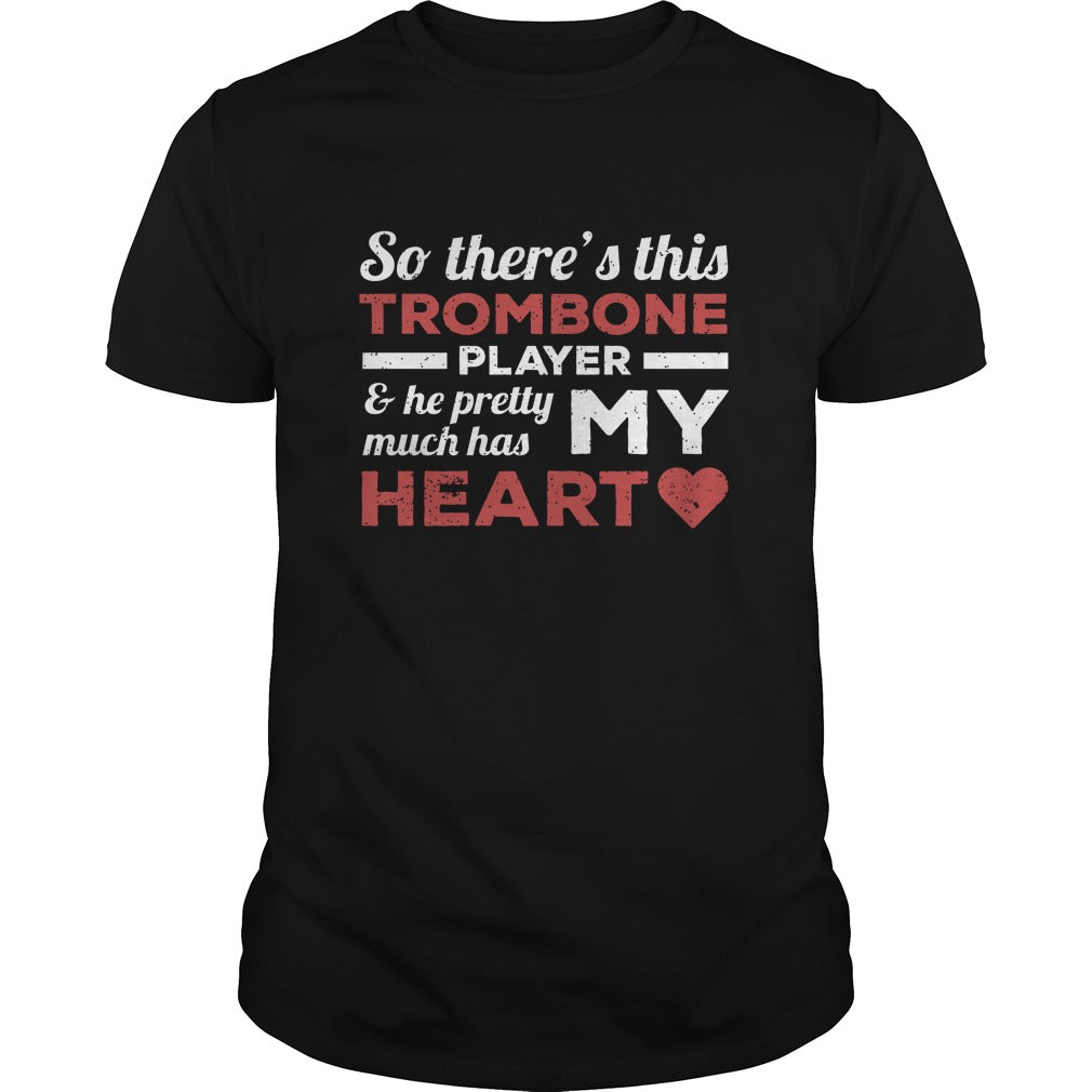 Trombone Player Heart Men's T-Shirt