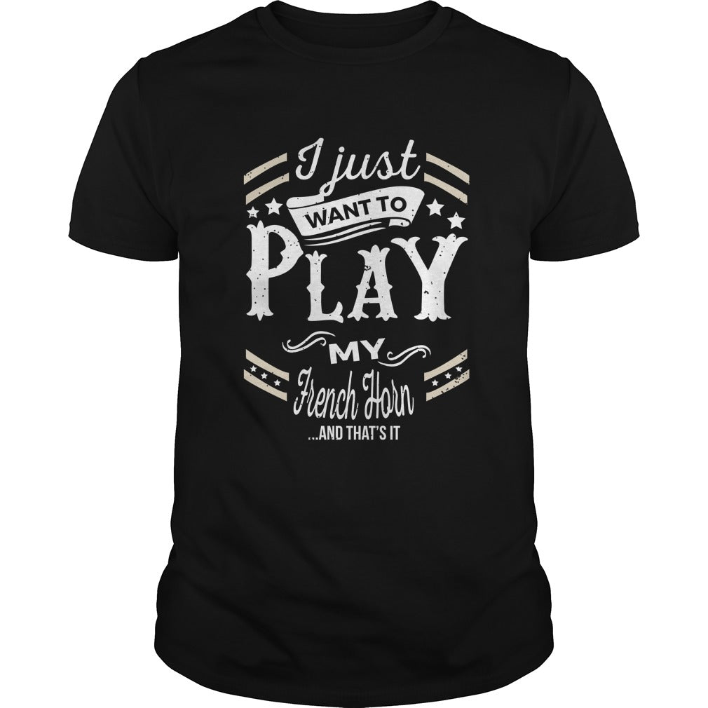 French Horn Play World Men's T-Shirt