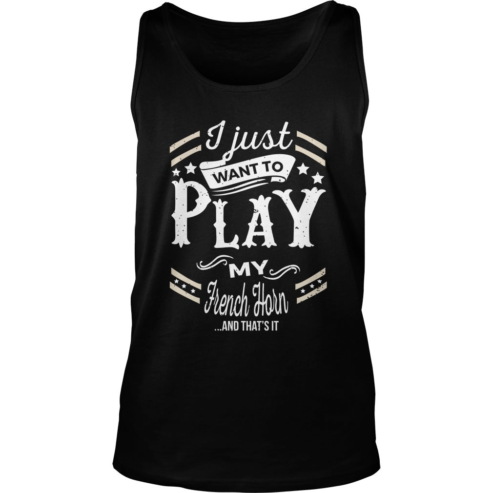 French Horn Play World Unisex Tank Top