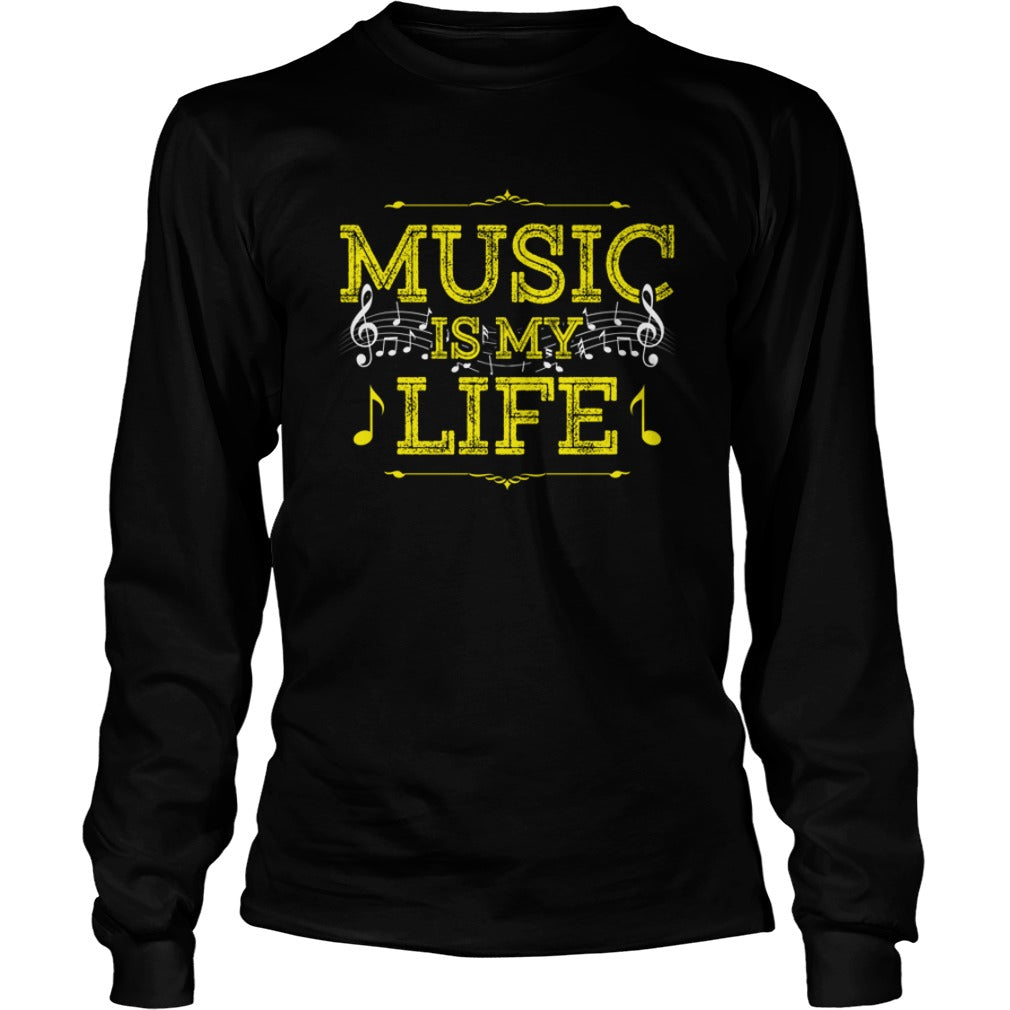 Music Is My Life Unisex Longsleeve T-Shirt