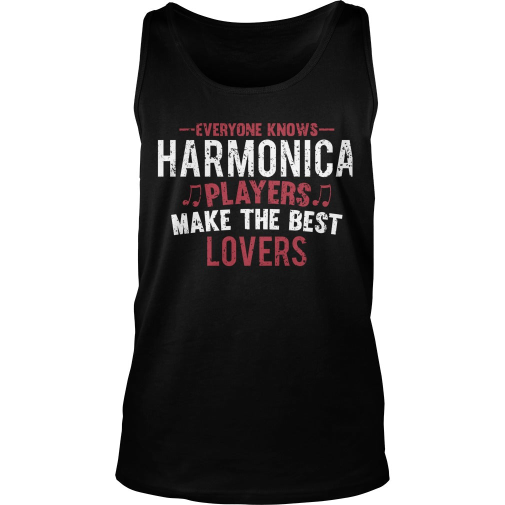 Harmonica Players Lovers Unisex Tank Top
