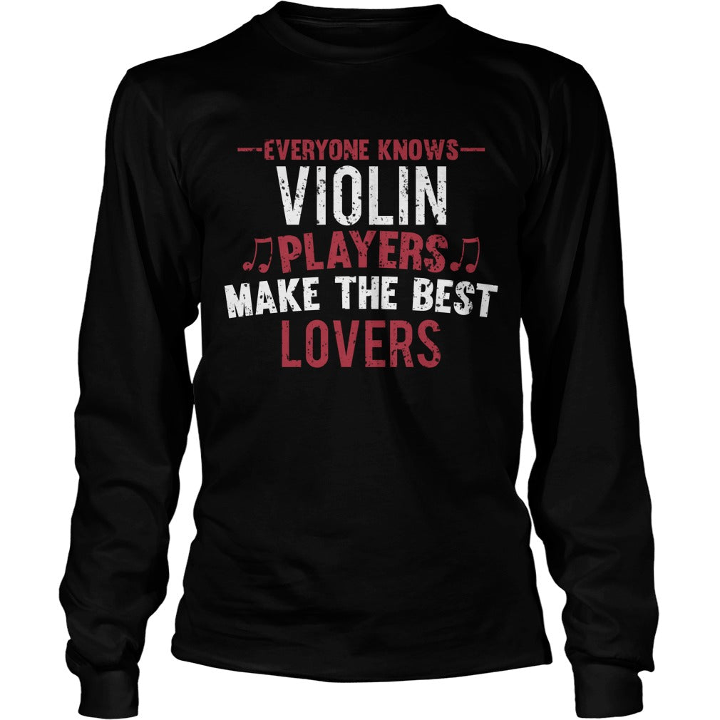 Violin Players Lovers Unisex Longsleeve T-Shirt