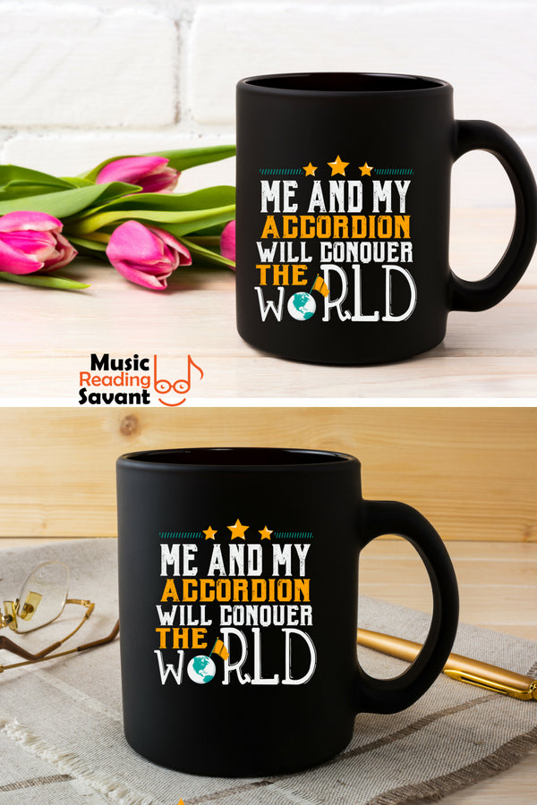 Accordion World Coffee Mug Black