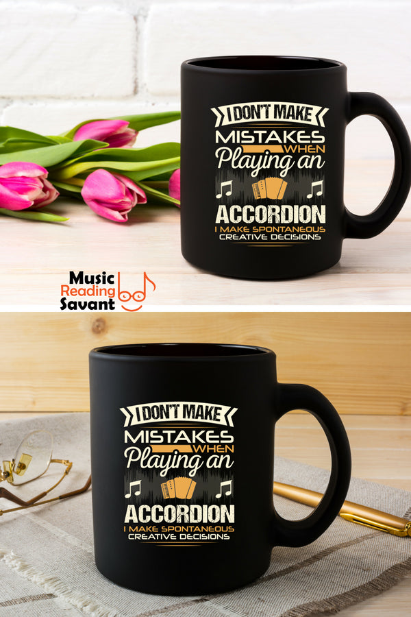 Accordion Mistakes Coffee Mug Black