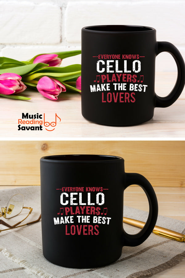 Cello Players Lovers Coffee Mug Black
