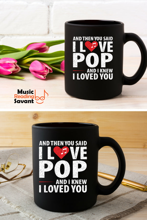 Love Pop Music Coffee Mug Black