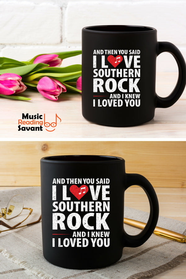 Love Southern Rock Music Coffee Mug Black