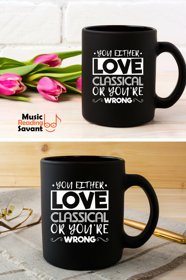 Love Classical Music Coffee Mug Black