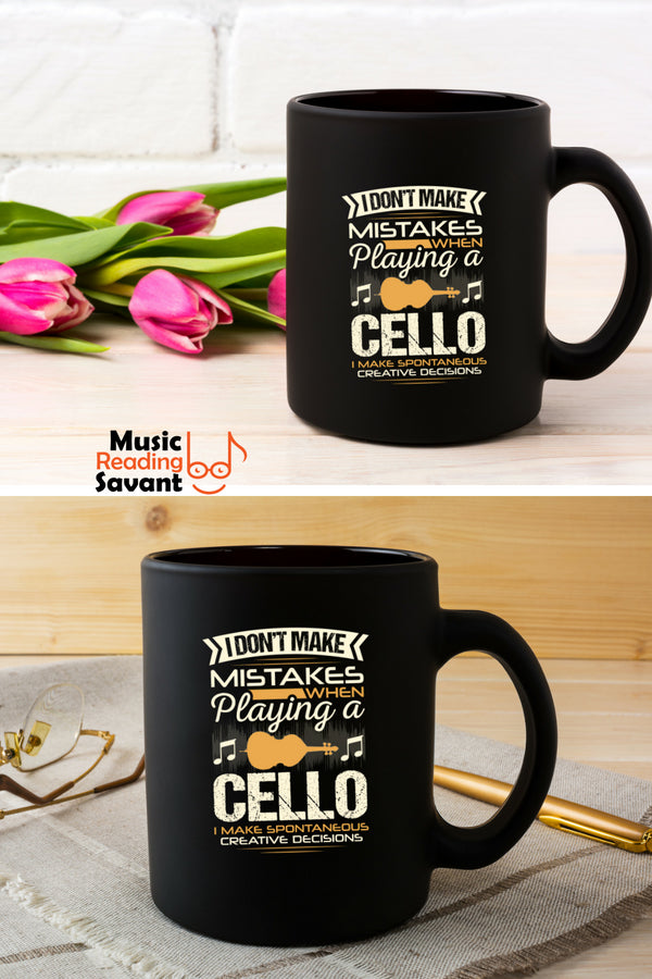 Cello Mistakes Coffee Mug Black