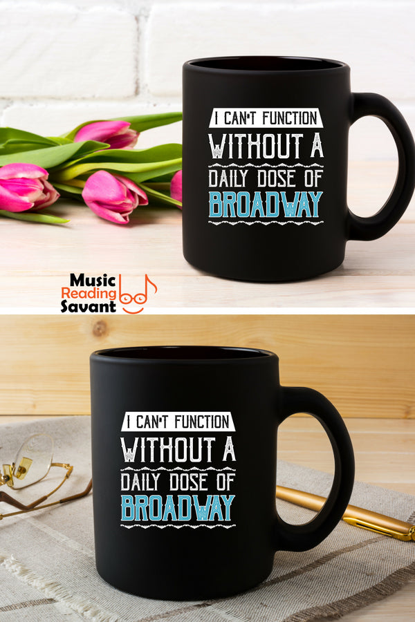 Broadway Music Coffee Mug Black