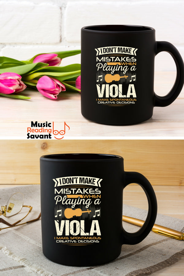 Viola Mistakes Coffee Mug Black