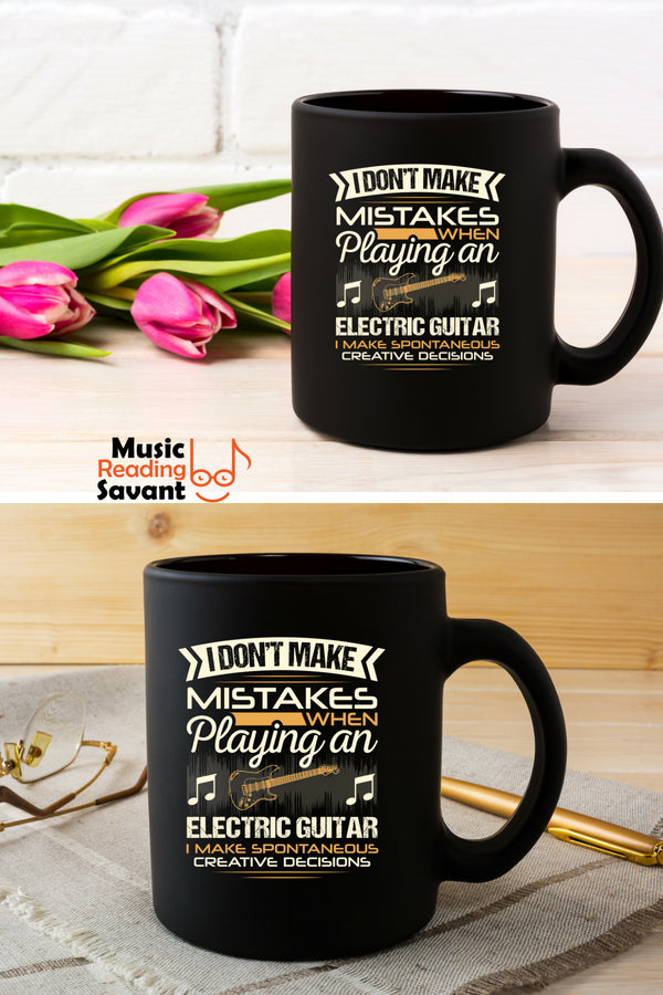 Electric Guitar Mistakes Coffee Mug Black