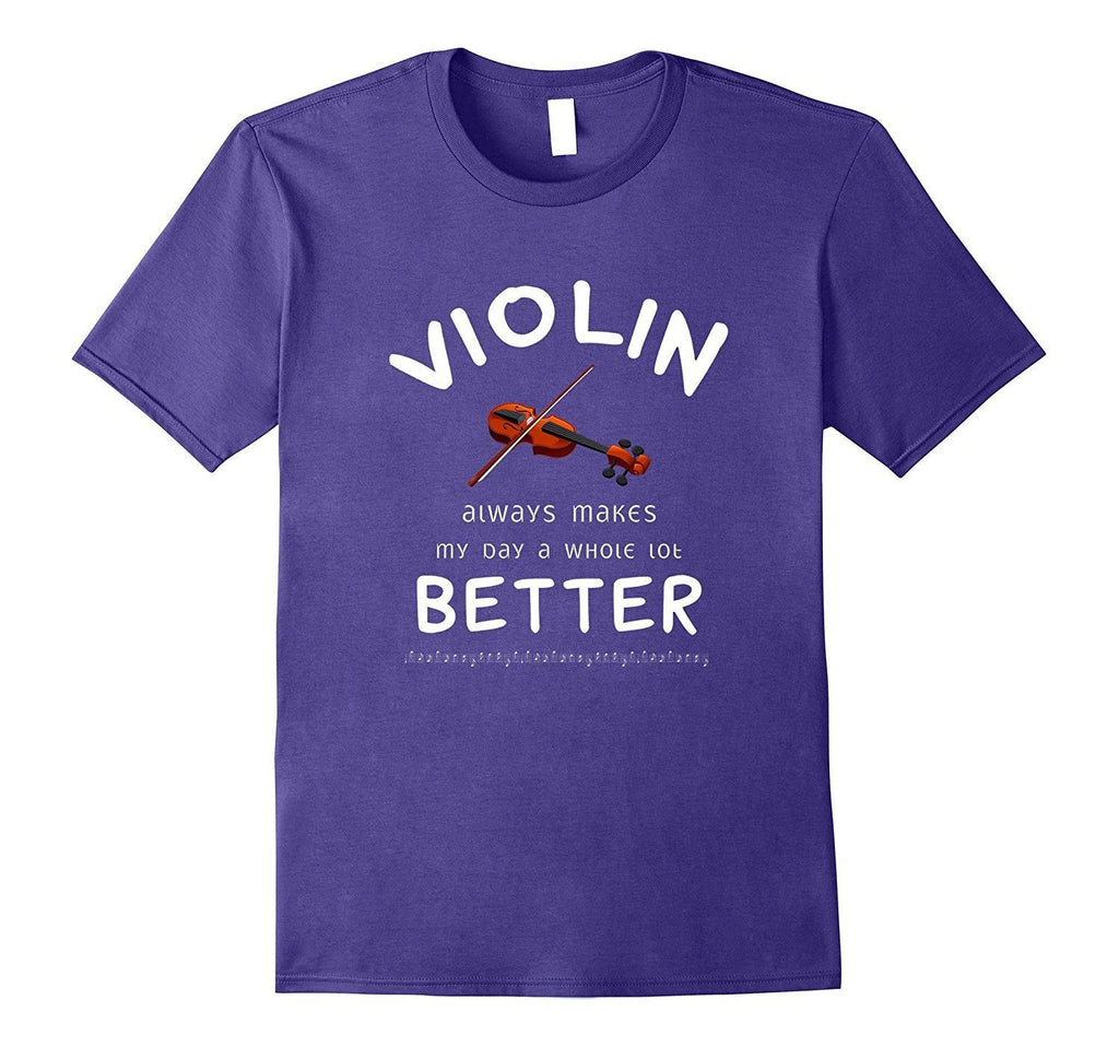 Violin Player Happy Statement T-Shirt