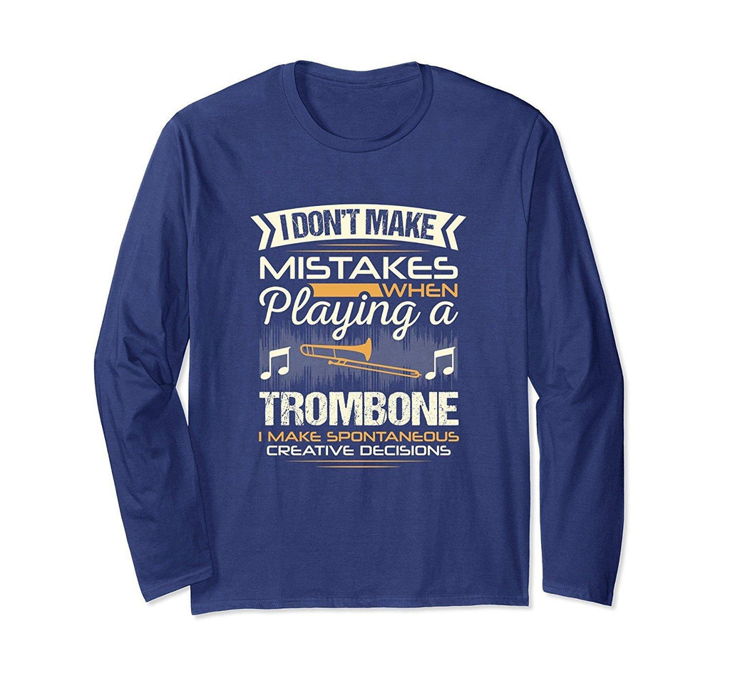 Trombone Player Long Sleeve Statement T-Shirt