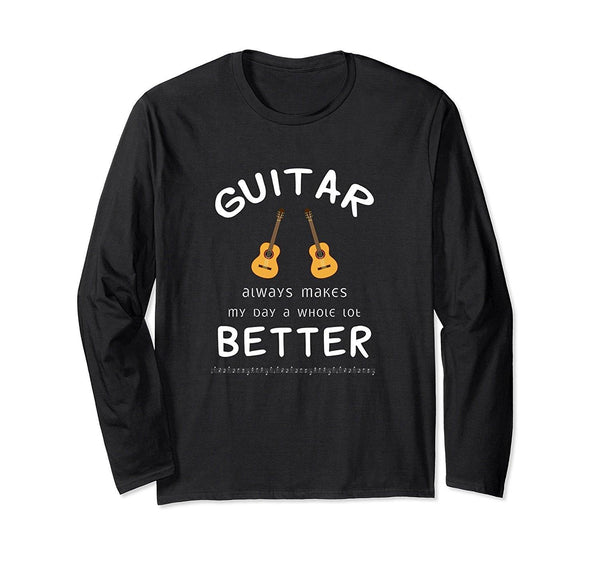Happy Guitar Player Statement Long Sleeve T-Shirt