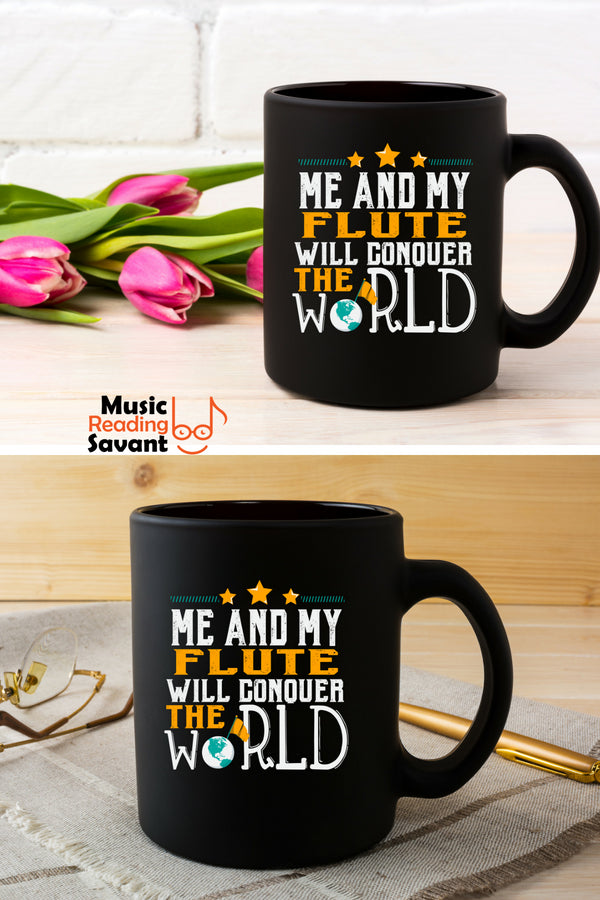 Flute World Coffee Mug Black