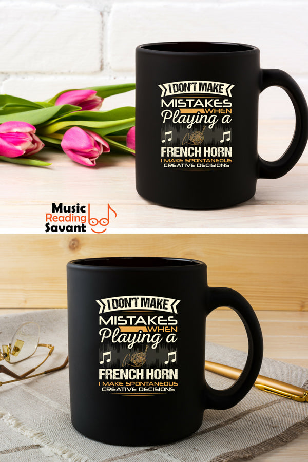 French Horn Mistakes Coffee Mug Black