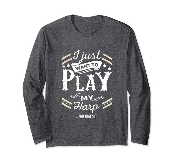 Harp Player Long Sleeve T-Shirt